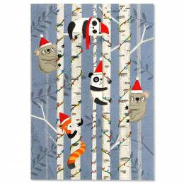 Peter Pauper Press Festive Friends Boxed Small Holiday Cards