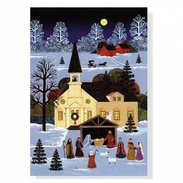 Peter Pauper Press Country Nativity Boxed Small Holiday Cards