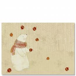 Peter Pauper Press Juggling Polar Bear Boxed Small Holiday Cards
