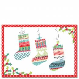 Peter Pauper Press Patchwork Stocking Boxed Small Holiday Cards