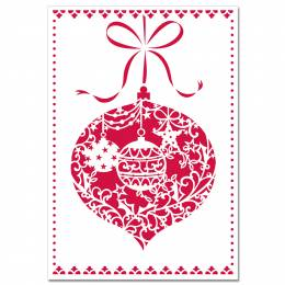 Peter Pauper Press Red Ornament Laser Cut Boxed Holiday Cards