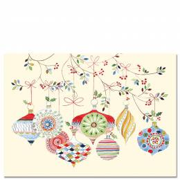 Peter Pauper Press Watercolor Ornaments Boxed Small Holiday Cards