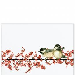 Peter Pauper Press Winterberry and Chickadee Boxed Deluxe Holiday Cards
