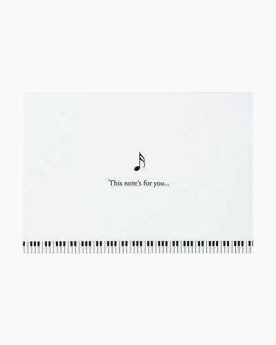 Music Note Boxed Note Cards