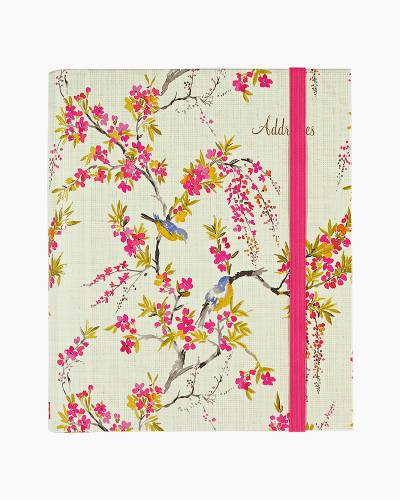 Blossoms and Bluebirds Large Address Book
