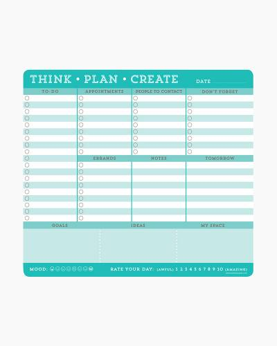 Think, Plan, Create Notepad Mousepad
