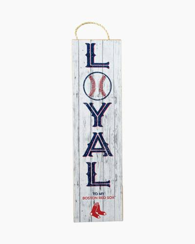 Boston Red Sox Loyal Wooden Sign