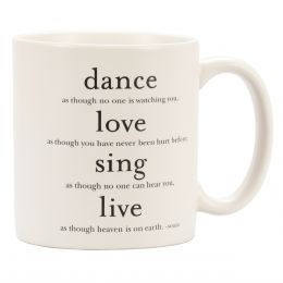 Quotable Cards Dance, Love, Sing - Mug