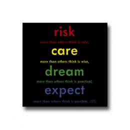 Quotable Cards Risk, Care, Dream Magnet