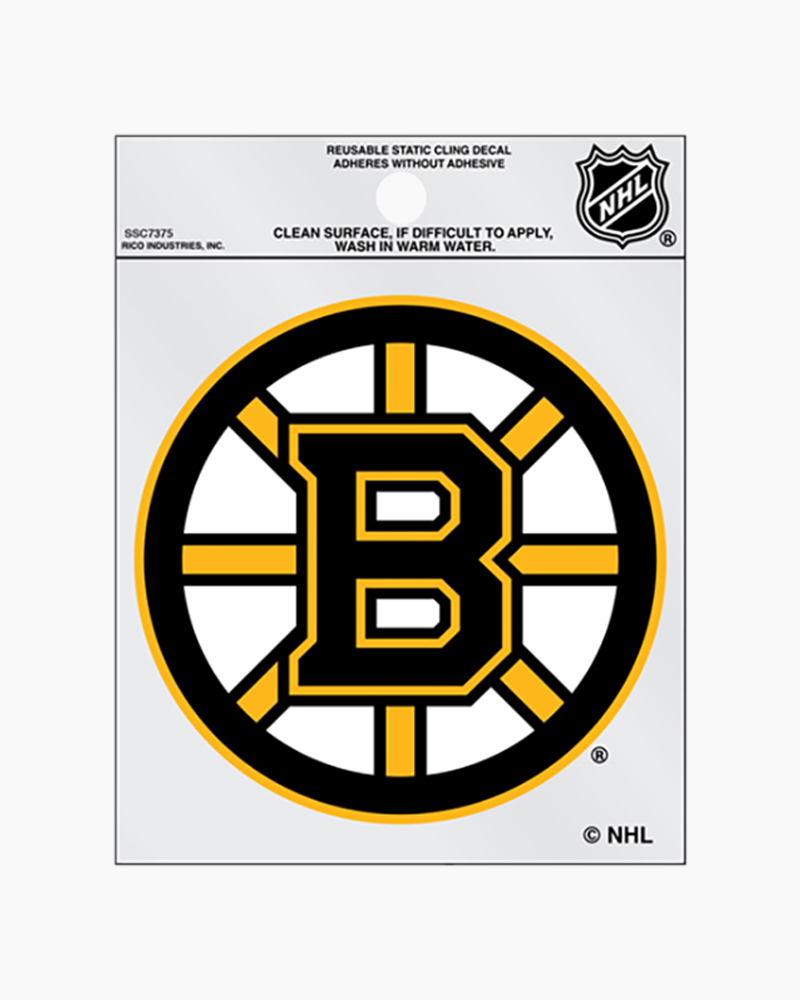 Extra Mile Boston Bruins Static Cling Decal