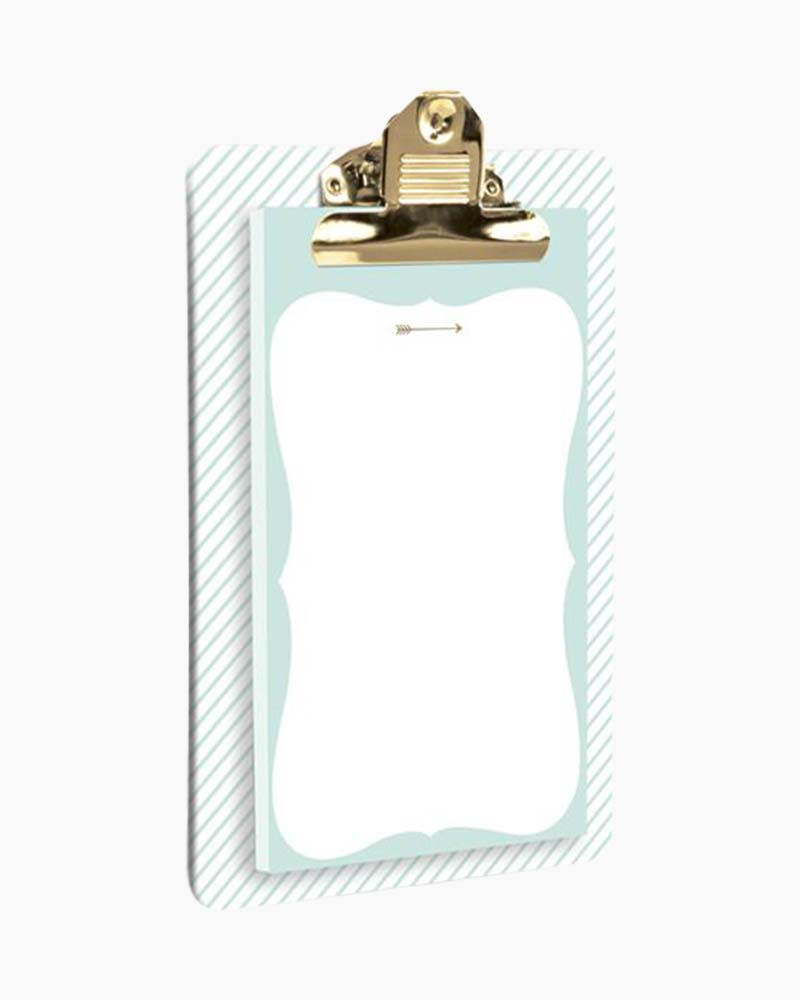 Graphique de France Mint and Gold Arrow Clipboard and Notepad