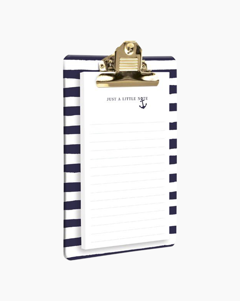 Graphique de France Navy Blue Anchor Clipboard and Notepad