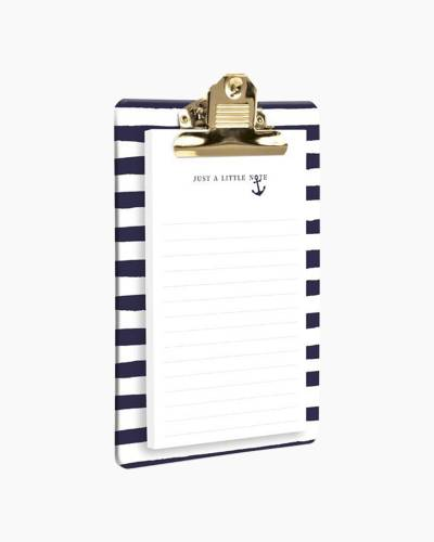 Navy Blue Anchor Clipboard and Notepad