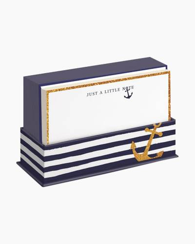Navy Blue Anchor Notecards and Envelopes Boxed Set