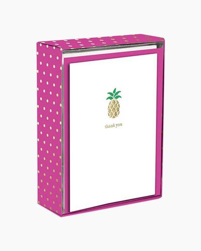 Golden Pineapple Boxed Thank You Notes