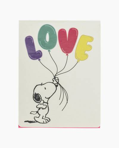Peanuts Snoopy Love Pocket Note Pad