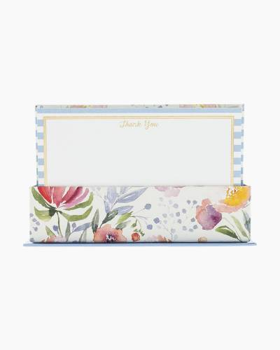 Floral Stripe Thank You Flat Notes