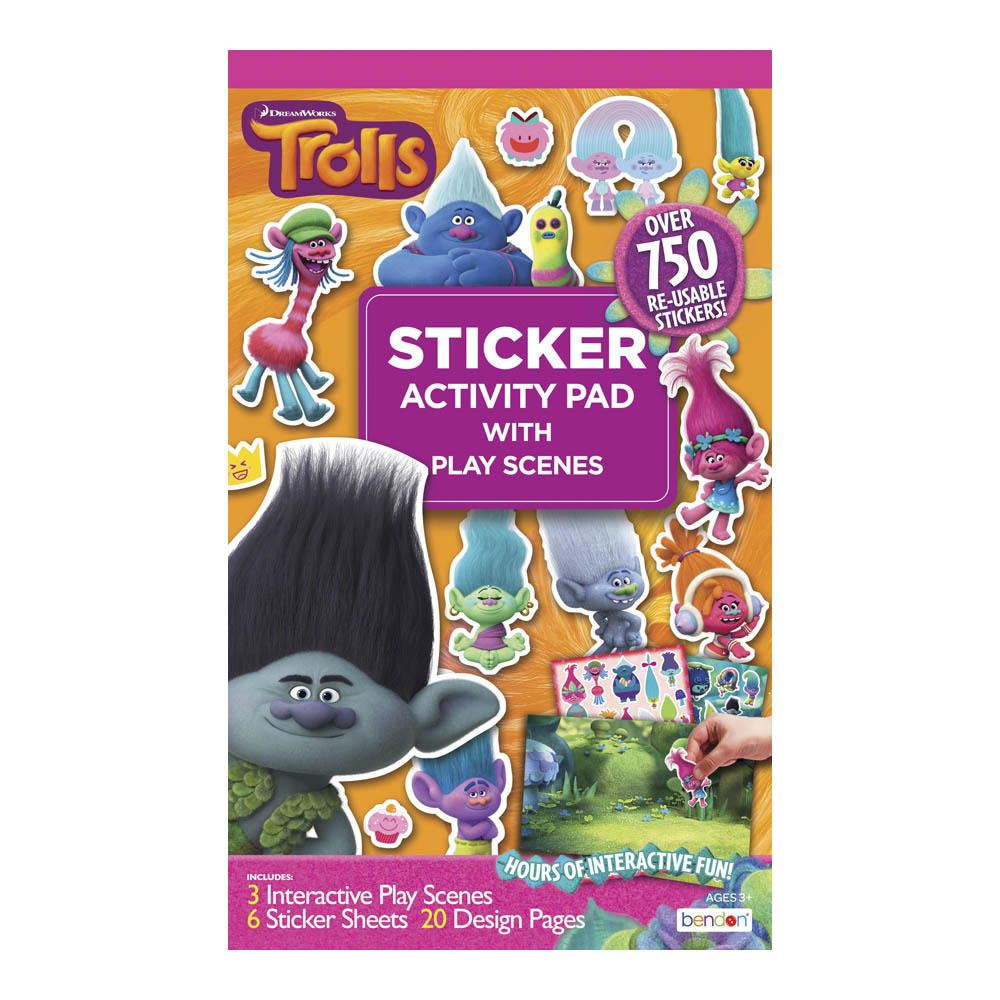Bendon Dreamworks Trolls Activity Sticker Pad