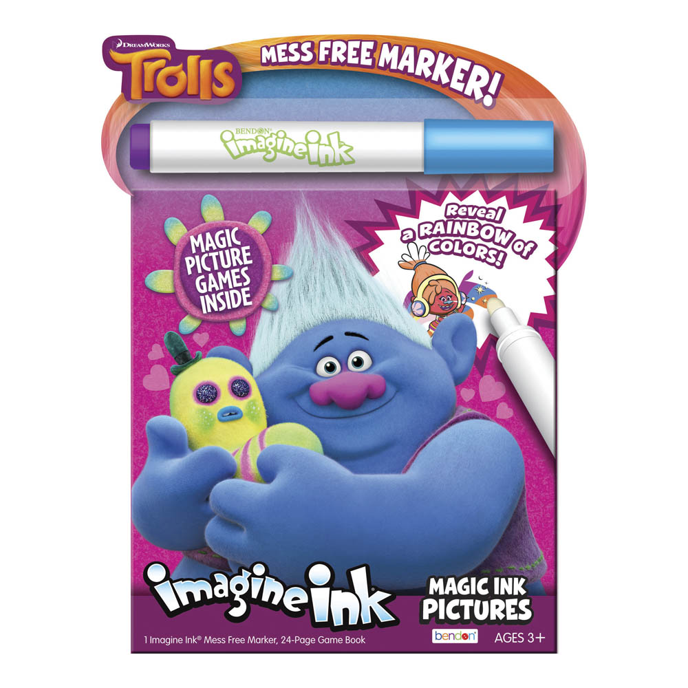 Bendon Dreamworks Trolls Imagine Ink Activity Book