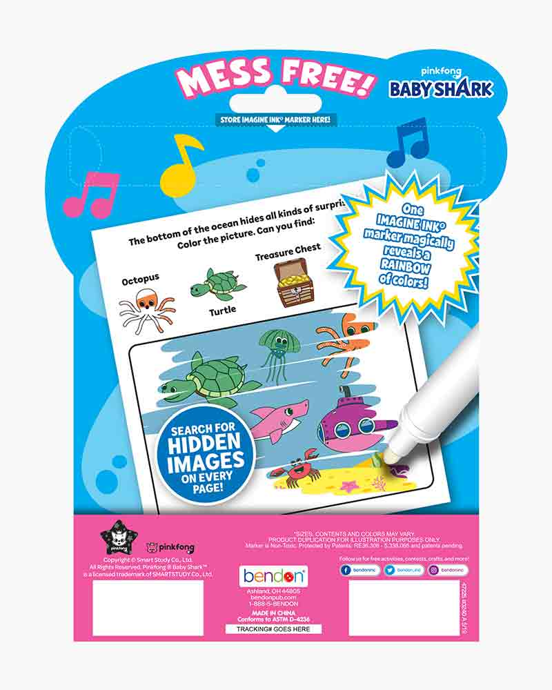 bendon baby shark imagine ink magic ink picture activity book the paper store baby shark imagine ink magic ink picture activity book