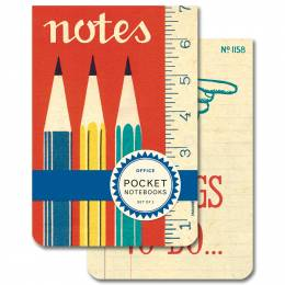 Cavallini and Co. Office Pocket Notebooks (Set of 2)
