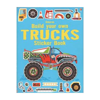 Build Your Own Trucks Sticker Book (Paperback)