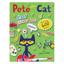 James Dean Pete the Cat Giant Sticker Book (Paperback)