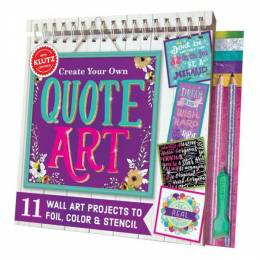 Klutz Create Your Own Quote Art Activity Book