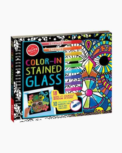 Color-in Stained Glass Activity Book