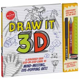 Klutz Draw It 3D : A Seriously Easy Step-by-Step Guide to Mind-Melting, Eye-Popping Art! Activity Book