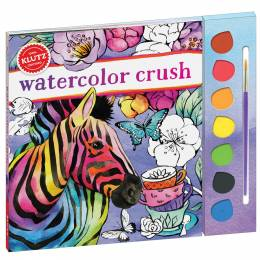 Klutz Watercolor Crush Activity Book and Kit