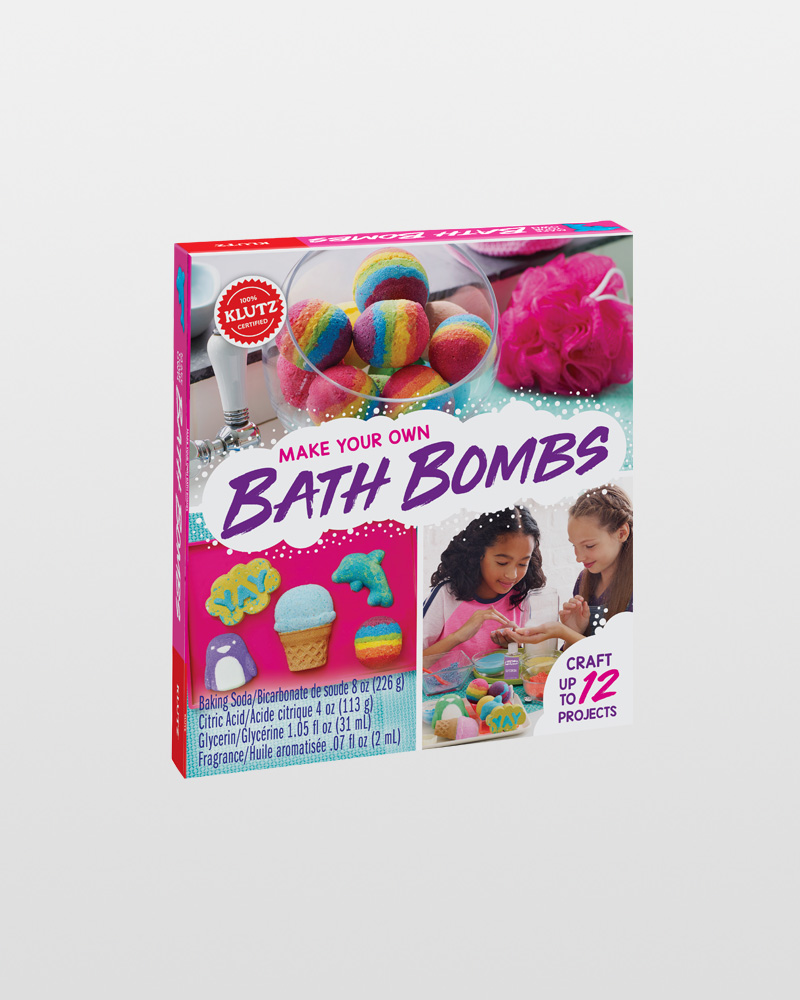 Klutz make your own bath bombs activity book the paper store for Alex toys craft color a house children s kit