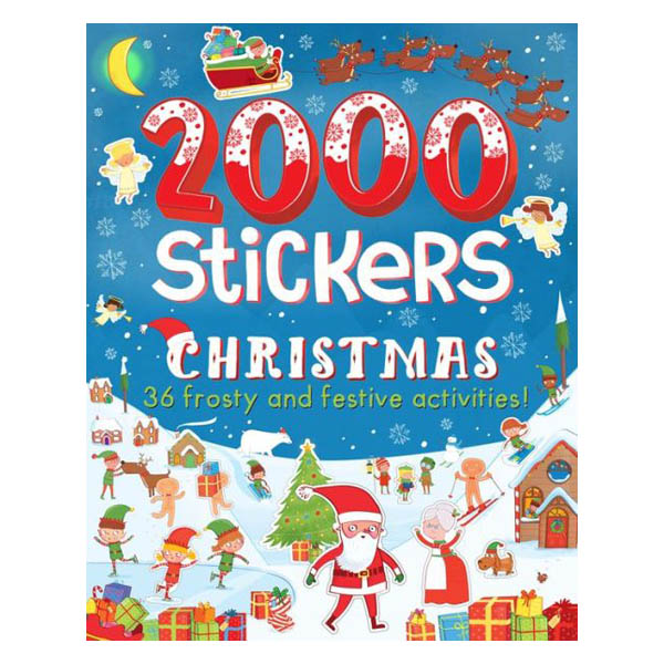 Parragon 2000 Stickers Christmas (Paperback)