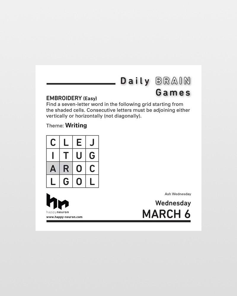 Deadly Brain Games 2019 Desk Calendar