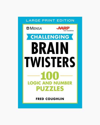 Challenging Brain Twisters: 100 Logic and Number Puzzles (Large Print Paperback)