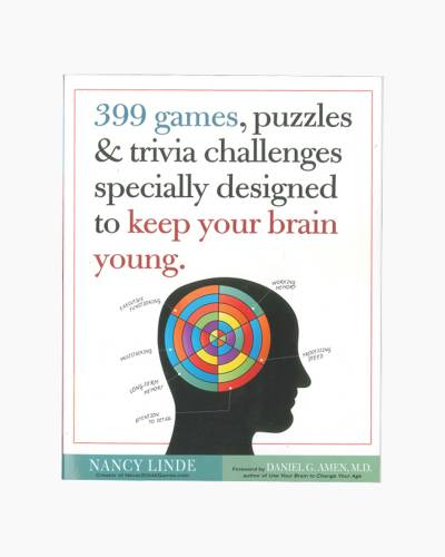 399 Games, Puzzles and Trivia Challenges Specially Designed to Keep Your Brain Young (Paperback)