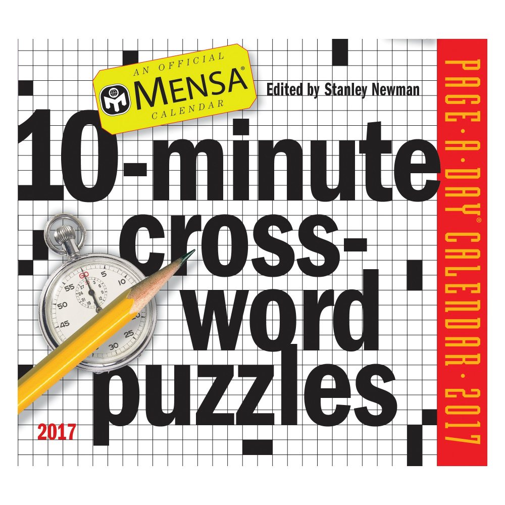 Workman Publishing Mensa 10-Minute Crossword Puzzles Page-A-Day Box Calendar 2017