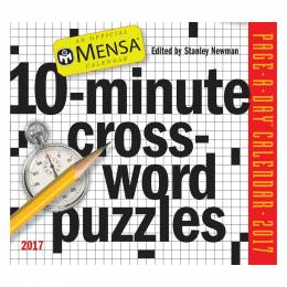 Workman Publishing Mensa 10-Minute Crossword Puzzles Page-A-Day Box Calendar 2016