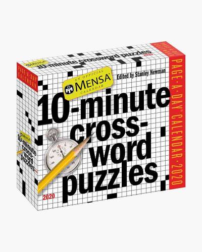 Mensa 10-Minute Crossword Puzzles 2020 Day-to-Day Calendar