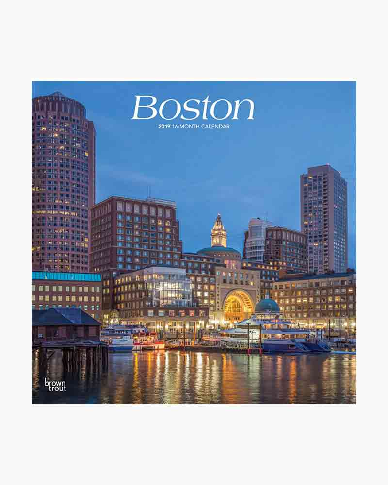 Uc Calendar 2019-16 Browntrout Publishers, Inc. Boston 2019 Wall Calendar   The Paper