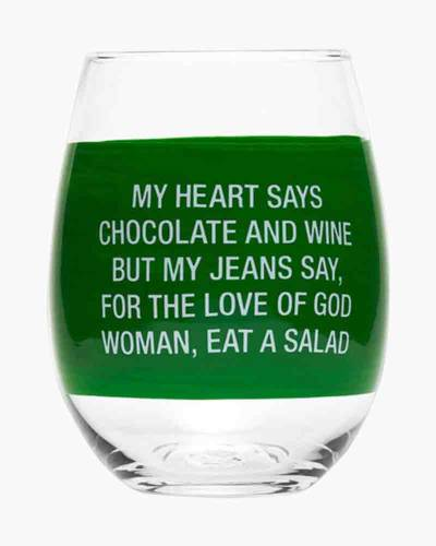 My Jeans Say Stemless Wine Glass