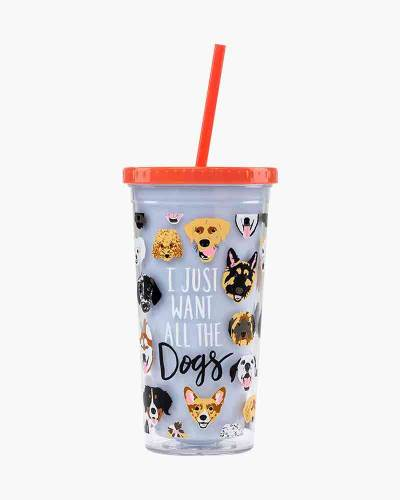 I Just Want All the Dogs Drink Tumbler