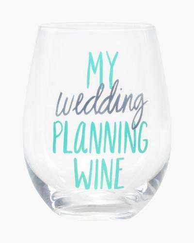 My Wedding Planning Wine Stemless Wine Glass