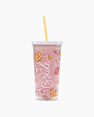 Bride Drink Tumbler with Straw, 20 oz.