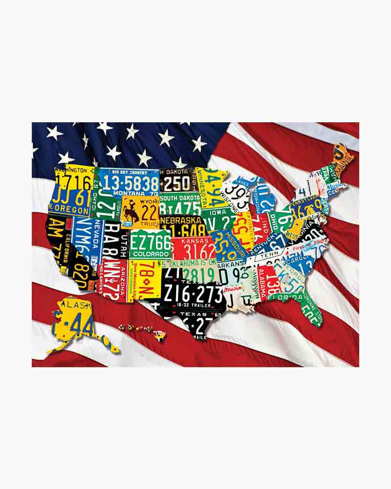Springbok State Plates Jigsaw Puzzle (1,000 pc)