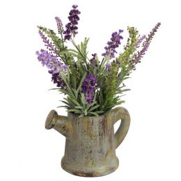 Allstate Floral & Craft Lavender Bunch in Watering Can