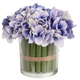 Allstate Floral & Craft Standing Blue Hydrangea Bouquet