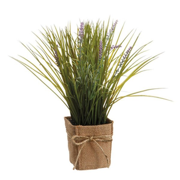 Purple Grass Lavender Silk Pot Plant