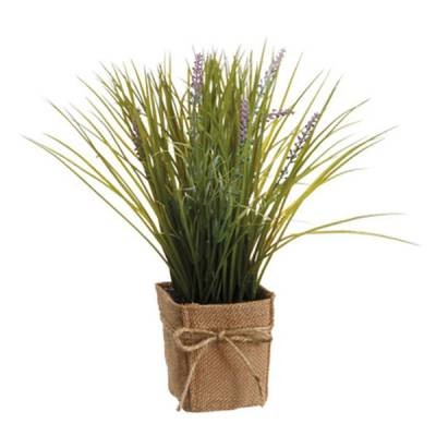 Purple Grass & Lavender Silk Pot Plant