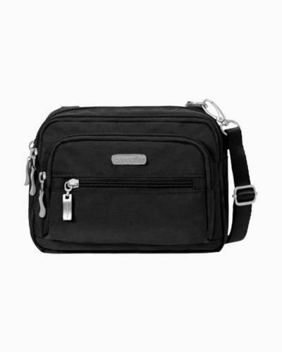 Triple Zip Bag in Black